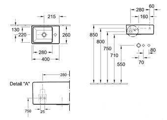 Villeroy En Boch Memento Fontein.Villeroy Boch Memento Fontein M Bevestiging 40x26cm Z Overloop M
